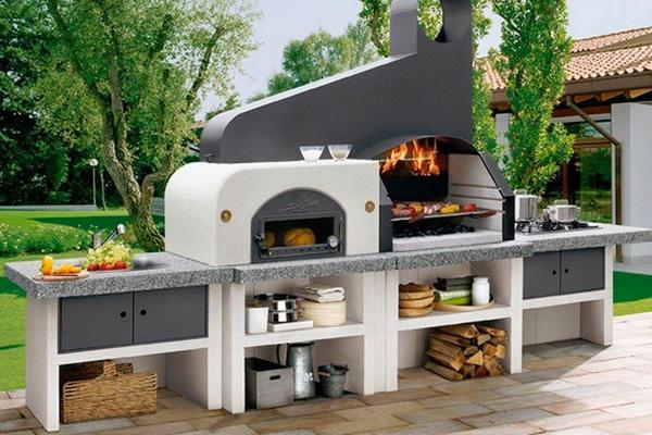 Barbecue in muratura - Cucina in muratura per esterni con barbecue ...